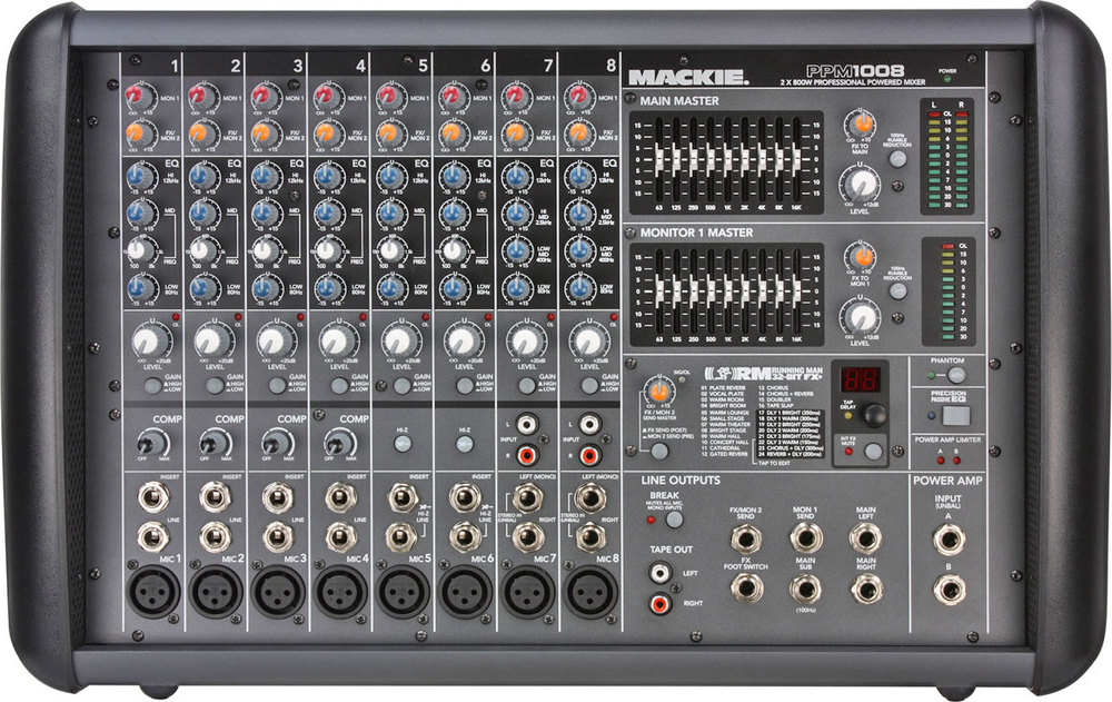 mackie ppm1008 powered mixer whybuynew. Black Bedroom Furniture Sets. Home Design Ideas