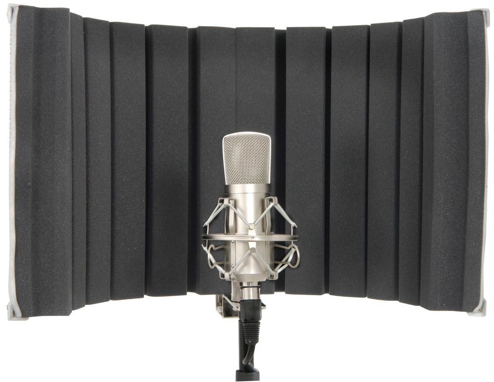 studio microphone mic screen vocal isolation booth whybuynew. Black Bedroom Furniture Sets. Home Design Ideas