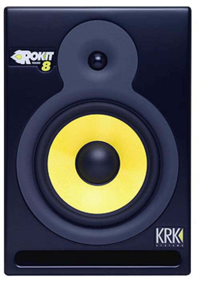 rare brand new single krk rp8 rokit 8 original studio monitor speaker whybuynew. Black Bedroom Furniture Sets. Home Design Ideas