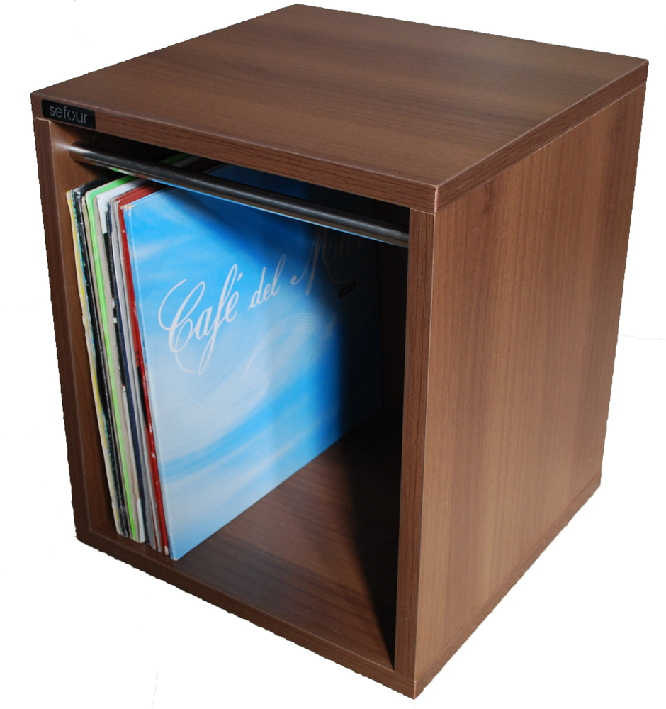 Sefour Vinyl Record Carry Box 60 Tobacco Walnut Vc030 909