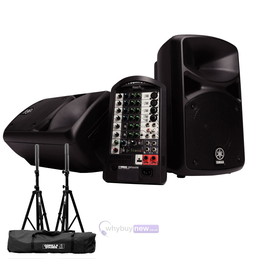 Yamaha stagepas 400i pa system w stands whybuynew for Yamaha portable pa system