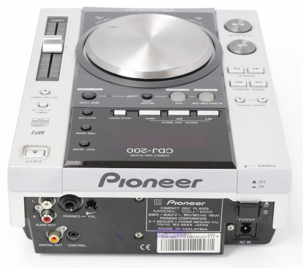 pioneer cdj200 dj cd player whybuynew. Black Bedroom Furniture Sets. Home Design Ideas