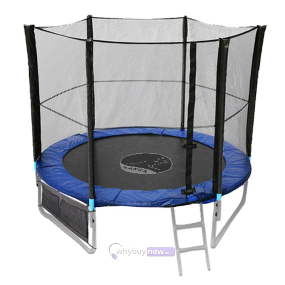 8ft Trampoline Safety Net Enclosure Ladder Rain Cover Shoe: KANGA 8ft Trampoline W/Enclosure & Ladder