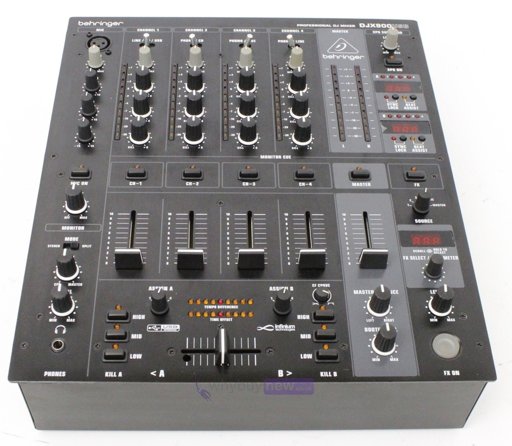 behringer djx900 usb dj club mixer whybuynew. Black Bedroom Furniture Sets. Home Design Ideas