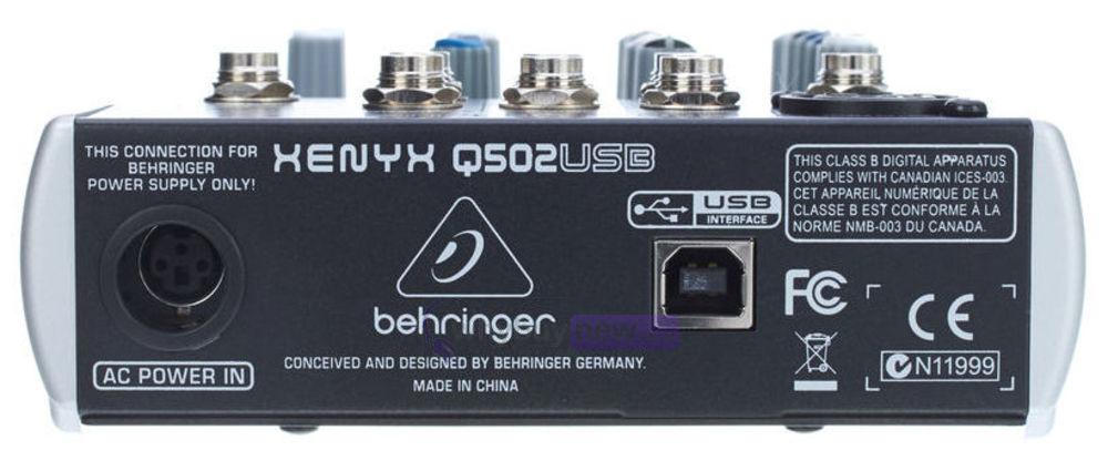 behringer xenyx q502usb инструкция