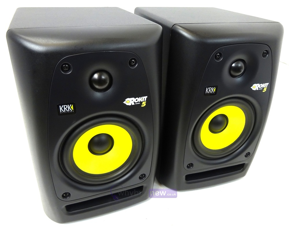 krk rokit rp5 g2 powered monitor speaker pair whybuynew. Black Bedroom Furniture Sets. Home Design Ideas