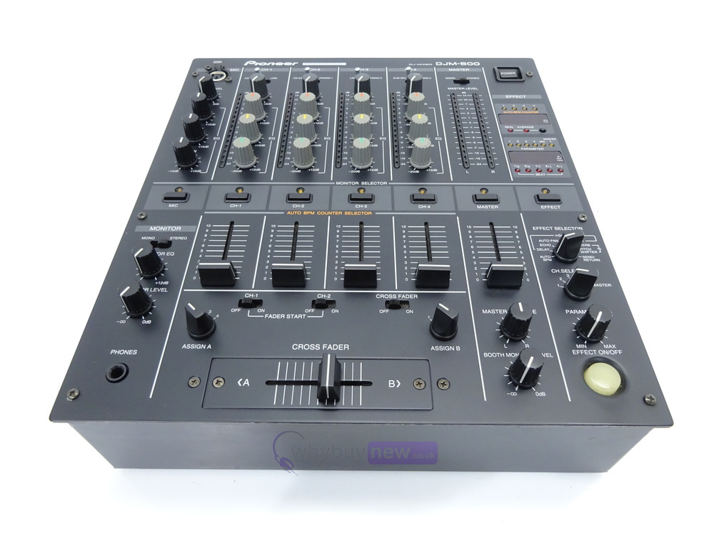 dj equipment dj mixers pioneer djm500 club mixer whybuynew. Black Bedroom Furniture Sets. Home Design Ideas