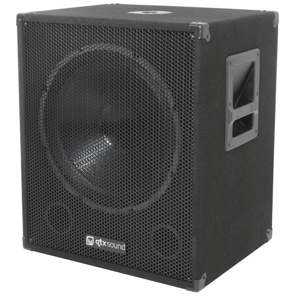 QTX Sound QT18SA Active Powered 1000W Subwoofer Disco DJ Sub Bass Bin SINGLE