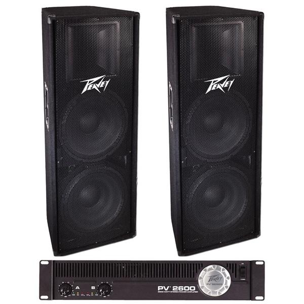 Peavey 215 & PV2600 Speaker Amp Package