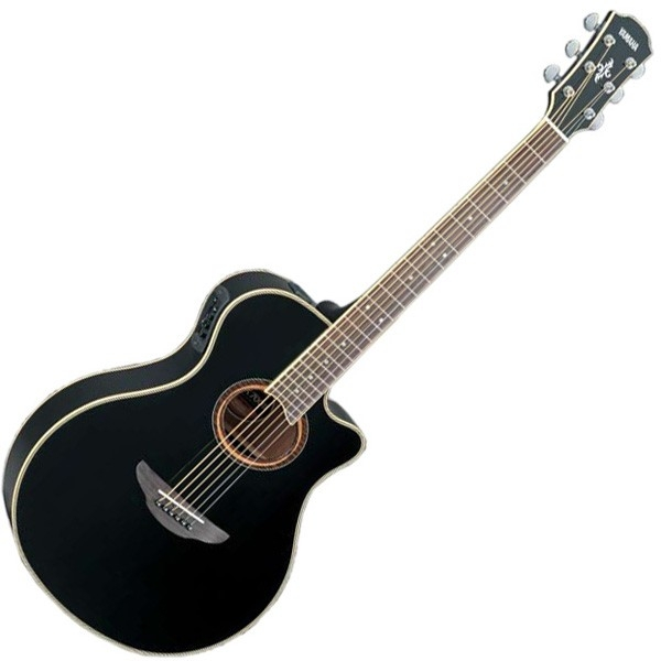 b stock yamaha apx700 ii 12 string electric acoustic guitar black apx 700 ii ebay. Black Bedroom Furniture Sets. Home Design Ideas
