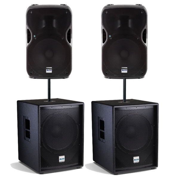 new alto ts112a ts sub 15 4000w active pa dj speaker sound system package ebay. Black Bedroom Furniture Sets. Home Design Ideas
