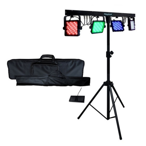 Neo Neon LED Partybar V2 DMX Par Can DJ Disco Club Lighting Effect Kit Parbar