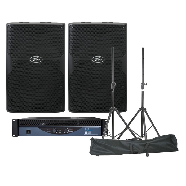 Peavey PVX12 Passive Speakers & W-Audio EP800 Amplifier PA DJ Disco Band Package