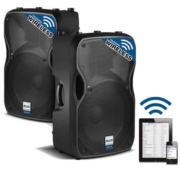alto ts112w 1600w 12 inch wireless active powered dj pa speaker ts 112 pair. Black Bedroom Furniture Sets. Home Design Ideas