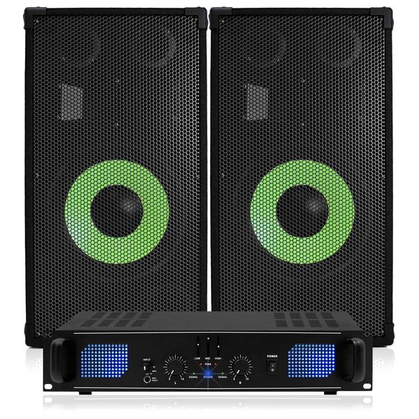 cheap dj speaker amp kit 1000w 12 pa disco house party dj speaker package ebay. Black Bedroom Furniture Sets. Home Design Ideas