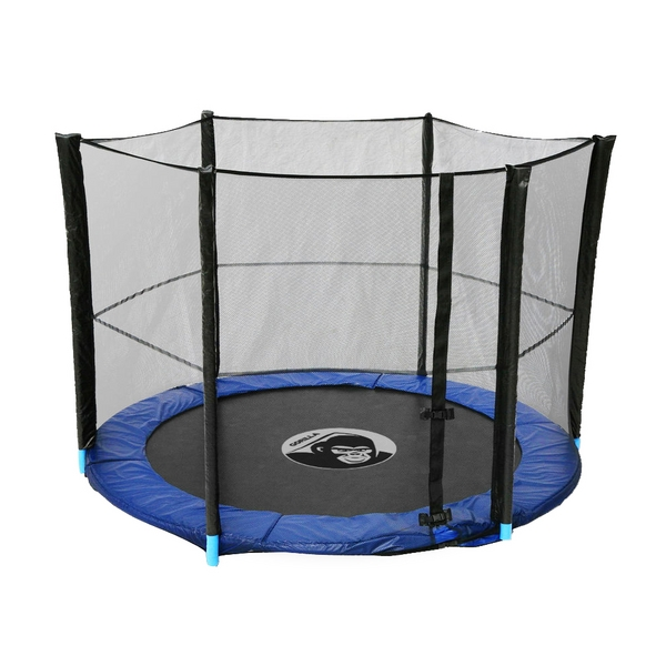 Universal 10ft Trampoline Net 6 Pole Safety Enclosure