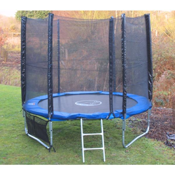 KANGA 6ft Trampoline With Enclosure, Net, Ladder, Winter