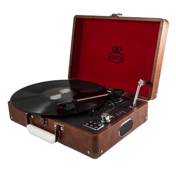 Gpo attache vintage brown portable porte documents tourne disque vinyle plati - Achat platine vinyle vintage ...