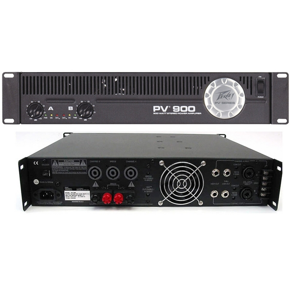 b stock peavey pv900 power amplifier disco band dj pv 900 2u rack mount pa amp. Black Bedroom Furniture Sets. Home Design Ideas