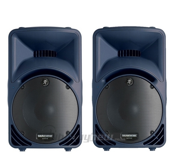 b stock mackie srm450 v2 active dj pa portable speakers blue srm 450v2 pair ebay. Black Bedroom Furniture Sets. Home Design Ideas