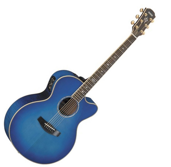 yamaha cpx900 ultramarine electro acoustic guitar with