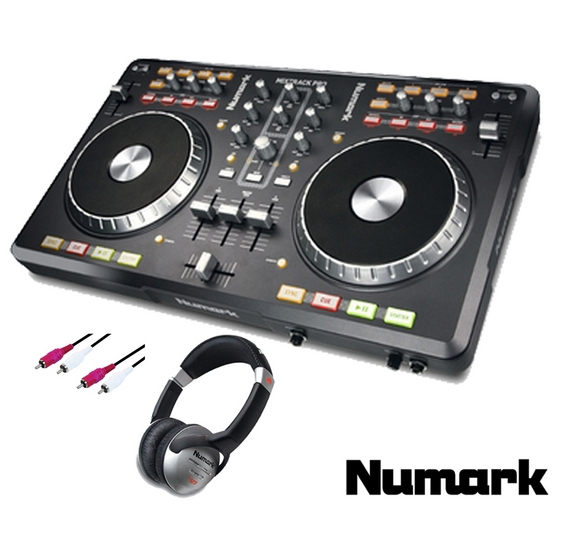 new numark mixtrack pro usb midi software controller control with hf125 cable ebay. Black Bedroom Furniture Sets. Home Design Ideas