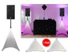 Gorilla White Tripod DJ PA Speaker Stand Lighting Scrim Screens PAIR
