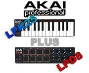 AKAI LPK25 + LPD8 USB MIDI Controller Bundle