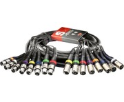 8 Way XLR Multicore Loom Snake 5m Studio Cable