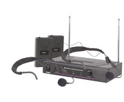 QTX VHF Dual Headband Mic System 174.1 + 175.0MHz