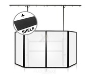 Gorilla DJB300 Complete DJ Booth With Carpet Shelf