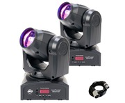 2 x American DJ Inno Pocket Beam Q4 Moving Head Lighting Package