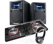 Numark Mixtrack Pro 3 with Numark N-Wave 360 Active Monitor Speaker Package