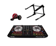 Pioneer DDJ-SB2 with Headphones and Laptop Stand