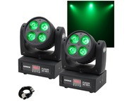 Equinox Fusion 50 HEX Moving Head (Pair) & Cable