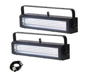 2x Equinox Blitzer LED Strobe White with DMX Cable
