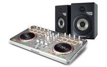 Numark Mixtrack 2 With Alesis M1 520 USB Monitors Package